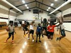 Richmond Christian  Girls Varsity Basketball Winter 18-19 team photo.