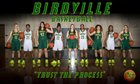Birdville Hawks Girls Varsity Basketball Winter 18-19 team photo.
