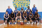 Gosnell Pirates Girls Varsity Basketball Winter 18-19 team photo.