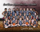 St. Thomas Aquinas Falcons Girls Varsity Basketball Winter 18-19 team photo.