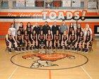 Coalinga Horned Toads Girls Varsity Basketball Winter 18-19 team photo.