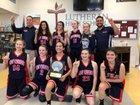 Round Rock Christian Academy Crusaders Girls Varsity Basketball Winter 18-19 team photo.