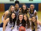 Forsyth Country Day Furies Girls Varsity Basketball Winter 18-19 team photo.