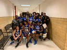 Surry County Cougars Girls Varsity Basketball Winter 18-19 team photo.