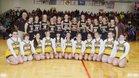 Monroe Central Golden Bears Girls Varsity Basketball Winter 18-19 team photo.
