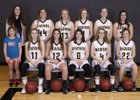 Madison/Hamilton Bulldogs Girls Varsity Basketball Winter 18-19 team photo.