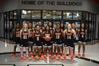 Hart County Bulldogs Girls Varsity Basketball Winter 18-19 team photo.