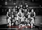 Riverton Wolverines Girls Varsity Basketball Winter 18-19 team photo.