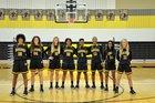 Denison Yellow Jackets Girls Varsity Basketball Winter 18-19 team photo.