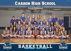 Carbon Dinos Girls Varsity Basketball Winter 18-19 team photo.