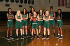 Father Lopez Green Wave Girls Varsity Basketball Winter 18-19 team photo.