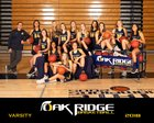 Oak Ridge Trojans Girls Varsity Basketball Winter 18-19 team photo.