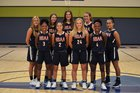 Dallas HSAA Blue Blue Angels Girls Varsity Basketball Winter 18-19 team photo.