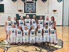 Methacton Warriors Girls Varsity Basketball Winter 18-19 team photo.