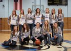 Lyman Eagles Girls Varsity Basketball Winter 18-19 team photo.