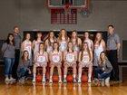 Newcastle Dogies Girls Varsity Basketball Winter 18-19 team photo.
