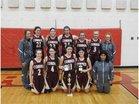 Cobden Appleknockers Girls Varsity Basketball Winter 18-19 team photo.