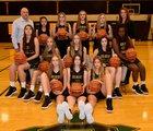 Gilbert Christian Knights Girls Varsity Basketball Winter 18-19 team photo.