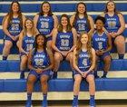 Cross County Thunderbirds Girls Varsity Basketball Winter 18-19 team photo.