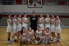 Holliston Panthers Girls Varsity Basketball Winter 18-19 team photo.
