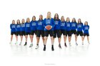 Woodcreek Timberwolves Girls Varsity Basketball Winter 18-19 team photo.