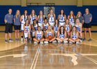 Rogers Mountaineers Girls Varsity Basketball Winter 18-19 team photo.