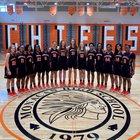 Monacan Chiefs Girls Varsity Basketball Winter 18-19 team photo.