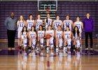 Heritage Timberwolves Girls Varsity Basketball Winter 18-19 team photo.