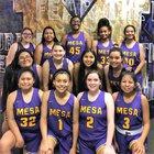 Mesa Jackrabbits Girls Varsity Basketball Winter 18-19 team photo.