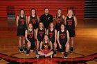 Viola Longhorns Girls Varsity Basketball Winter 18-19 team photo.