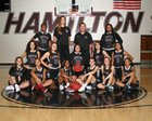 Hamilton Huskies Girls Varsity Basketball Winter 18-19 team photo.