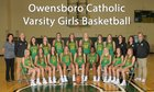 Owensboro Catholic Aces Girls Varsity Basketball Winter 18-19 team photo.
