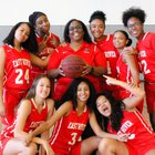 East River Falcons Girls Varsity Basketball Winter 18-19 team photo.