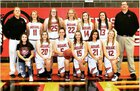 Montrose Indians Girls Varsity Basketball Winter 18-19 team photo.