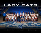 Conway Wampus Cats Girls Varsity Basketball Winter 18-19 team photo.