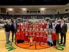 Fort Gibson Tigers Girls Varsity Basketball Winter 18-19 team photo.