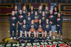 Centennial Hawks Girls Varsity Basketball Winter 18-19 team photo.
