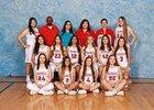 Valencia Jaguars Girls Varsity Basketball Winter 18-19 team photo.