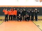 Leesburg Yellow Jackets Girls Varsity Basketball Winter 18-19 team photo.