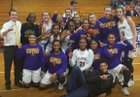 Daphne Trojans Girls Varsity Basketball Winter 18-19 team photo.