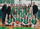 Lander Valley Tigers Girls Varsity Basketball Winter 18-19 team photo.