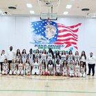 Kennedy Commanders Girls Varsity Basketball Winter 18-19 team photo.