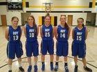 Roy/Mosquero Longhorns Girls Varsity Basketball Winter 18-19 team photo.