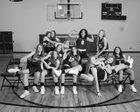 Tanque Verde Hawks Girls Varsity Basketball Winter 18-19 team photo.