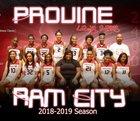 Provine Rams Girls Varsity Basketball Winter 18-19 team photo.