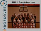 Gravette Lions Girls Varsity Basketball Winter 18-19 team photo.