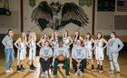 Falcon Falcons Girls Varsity Basketball Winter 18-19 team photo.