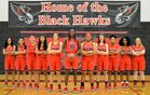 Williams Field Black Hawks Girls Varsity Basketball Winter 18-19 team photo.
