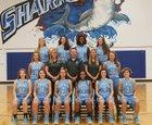 St. James Sharks Girls Varsity Basketball Winter 18-19 team photo.