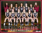 Kentlake Falcons Girls Varsity Basketball Winter 18-19 team photo.
